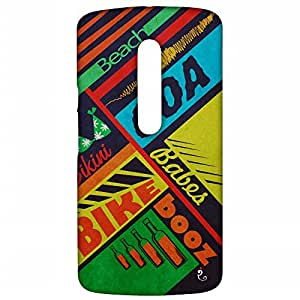 RANGSTER 5 Bs-Goa-Matte Finish Mobile Case For Motorola Moto X-Play (XT1562)-Blue