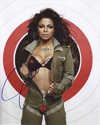 Janet Jackson Autograph Signed 8 x 10 Photo