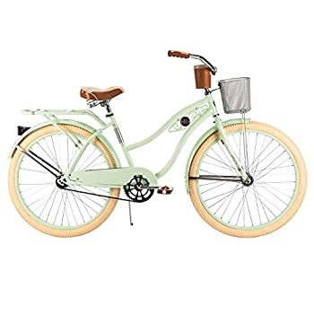 Huffy Women's Deluxe Cruiser Bike, Mint Green, 26-Inch/Medium