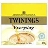 Twinings Everyday 50 Envelope Teabags 100g - Pack of 6