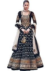 Shree Ashapura Creation Women Georgette Bollywood Dress Material ( Black )