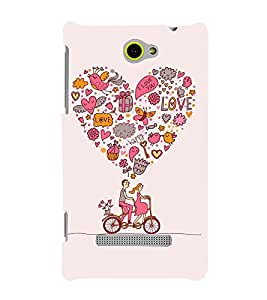 printtech Love Couple Cycle Cute Back Case Cover for HTC Windows Phone 8S