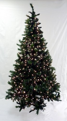 6.5' Pre-Lit Frosted Mixed Pine Artificial Christmas Tree - Clear Lights