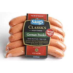 Saags German Franks Frankfurters 10 Oz Pkg by Saag's