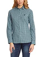 POLO CLUB Camisa Mujer Checks (Azul Marino / Azul)