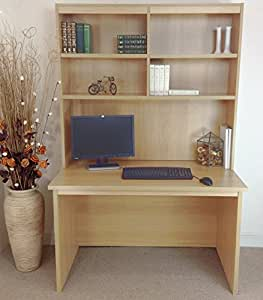 B RDK OI IN BE Beech Computer Desk Table Hutch Unit Kids Living Room Home Off