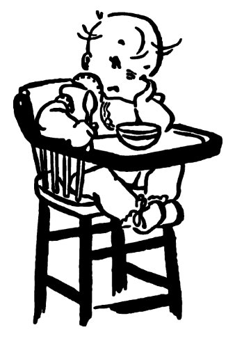 "Clear Stamp (2"" X 2.5"") Flonz Clingy Acrylic Stamp // Sad Baby Eating front-86640"