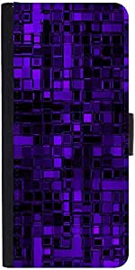 Snoogg Purple Digital 2422 Designer Protective Flip Case Cover For Samsung Ga...