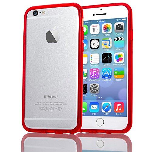 nica Protezione Bumper Custodia Cover Case Silicone TPU Smartphone APPLE IPHONE 6 / 6S, Colore:Rosso