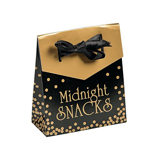 New Year's Eve Midnight Snack Favor Boxes (1 dz)