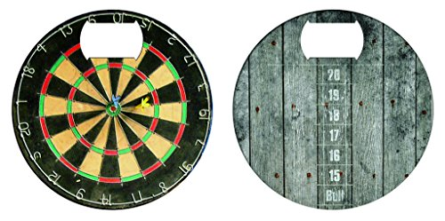 Dart Board Stainless Steel Coaster Bottle Opener (Soda Penny Board compare prices)