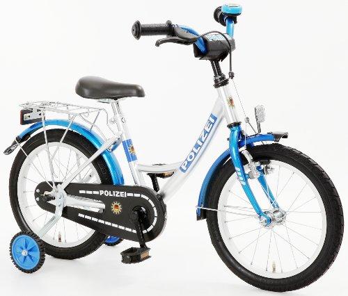 bachtenkirch 18 zoll fahrrad polizei blau silber. Black Bedroom Furniture Sets. Home Design Ideas