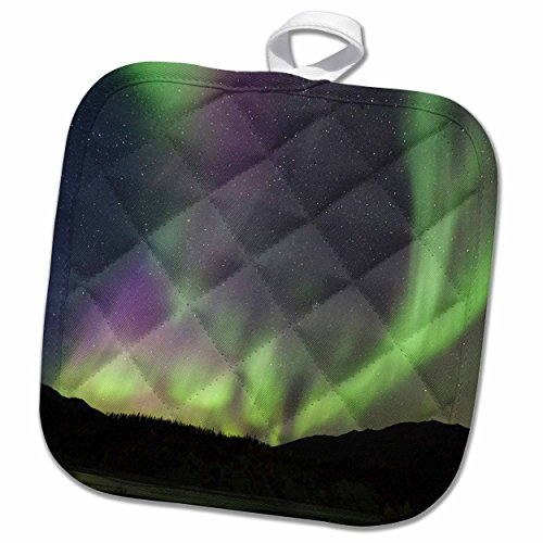 3dRose Danita Delimont - Northern Lights - Aurora borealis, Northern Lights, Alaska, USA - US02 HRO0392 - Hugh Rose - 8x8 Potholder (phl_141869_1) (Electron Pot compare prices)