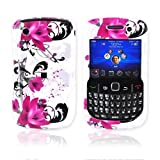 BLACKBERRY CURVE 8520 8530 Hard Case Pink Flowers