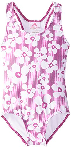 Kanu Surf Baby Girls' Kate Floral 1 Piece Swim, Purple, 18 Months