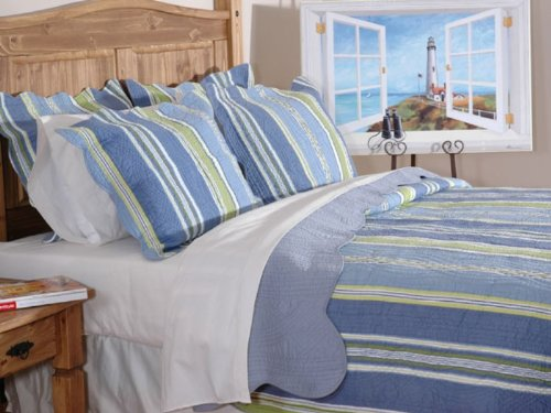 Bay Stripes - Quilt SET- Full/Queen