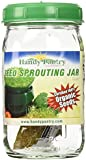 One Quart Glass Sprouter Jar w/ Sprouting Strainer Lid: Grow Sprouts: Includes 2 Oz. Organic Alfalfa Sprout Seeds & Sprouting Instructions
