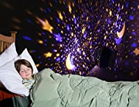Galaxy Light Star Sky Night Light,MKQPOWER Upgrade Projector Light Cosmos light+Moon Star Light Cover Rotating Cosmos Night Lamp for Babies Kids Bedroom,Romantic Relax Sleep Aid Light for Children Adults,Decorative Light for Nursery Party from MKQPOWER
