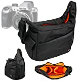 DURAGADGET Rugged SLR Camera Shoulder 'Sling' Casual Carry Bag with Adustable Interior & Multiple Compartments for Pentax X5 Bridge Camera - Silver (16MP, 26x Wide Angle Optical Zoom) 3 inch Tilt LCD, Pentax 645D, Pentax Q10 & Leica S2
