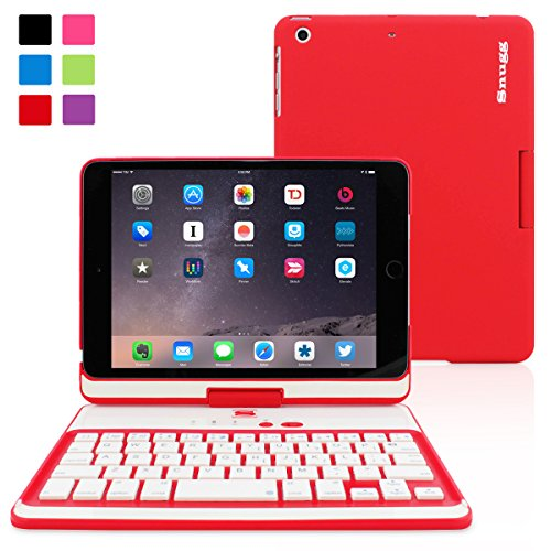 iPad Mini 1 / 2 / 3 360° Rotatable Keyboard Case, Snugg™ - Ultra Slim Keyboard Cover Case with Bluetooth Connectivity & Lifetime Guarantee (Red) For Apple iPad Mini 1 / 2 / 3 Retina