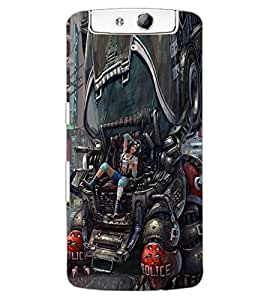 ColourCraft Printed Design Back Case Cover for OPPO N1