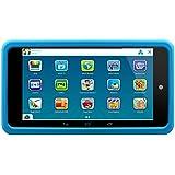 Lenco Kidztab-520 Mini tablette numérique pour enfant Processeur Dual Core WLAN Bluetooth Mémoire interne 4 Go Port Micro USB Lecteur de carte Micro SD Android 4.4 Avec logiciels et coque de protection en silicone Bleu - bleu