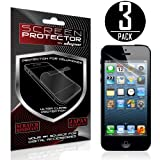 Skque® 3PCs Anti Glare Screen Protector for Apple® iPhone® 5 5G 5S 5C