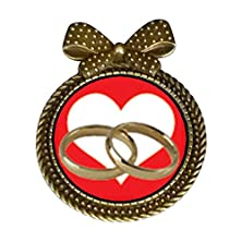 buy Giftjewelryshop Ancient Style Wedding Rings Heart Round With Bowknot Pin Brooch #9
