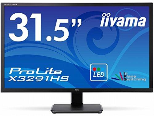 iiyama Full HD(1920x1080)モード対応 AH-IPSパネル搭載 WLEDバックライト31.5型ワイド液晶ディスプレイ X3291HS-B1