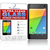 Asus Google Nexus 7 Screen Protector - Tempered Glass - Package Includes Microfiber Cleaning Wipe, Installation Tips with Video - Retail Packaging - by TruShield