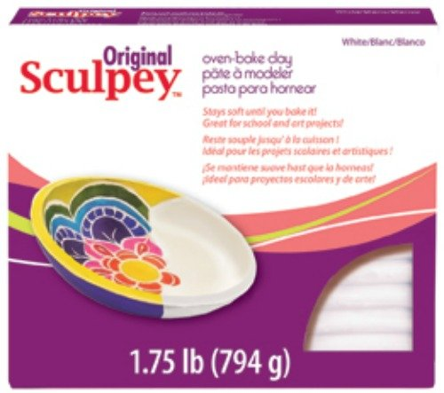 Polyform Sculpey Original Polymer Clay, 1.75-Pound, White (Modeling Clay Bake compare prices)