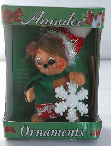 Annalee 3″ Snowflake Mouse Christmas Ornament