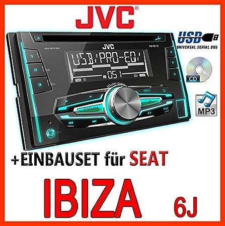 Seat ibiza 6J-gris clair-jVC-kW-r510E-kit de montage d'autoradio 2 dIN