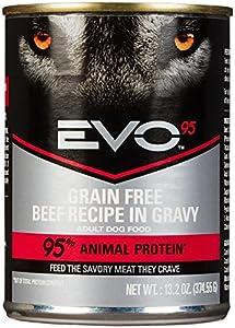 EVO 95% Beef Canned Dog Food - 12x13.2 oz