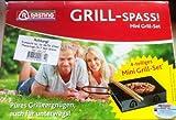 Grill-Spass! Mini Grill-Set 4-teiliges Mini Grill-Set pures Grillvergnügen für Unterwegs