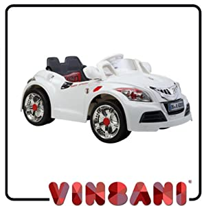 Kids Ride On White Cabriolet Kids Electric Battery Ride on 6V Car with Remote Control B28C
