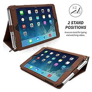 Snugg® iPad Mini & iPad Mini 2 Case - Executive Smart Cover With Card Slots & Lifetime Guarantee (Distressed Brown Leather) for Apple iPad Mini & iPad Mini 2