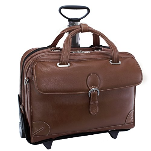 Siamod-Carugetto-Wheeled-17-Laptop-Bag-Cognac