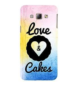 EPICCASE cake of love Mobile Back Case Cover For Samsung Galaxy A7 (Designer Case)