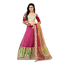 Net Party Wear Lehenga Choli in Pink Colour