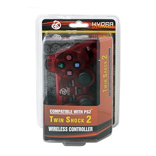 Hydra Performance® Wireless Controller 2.4G Clear Red Compatible with Sony Playstation 2 PS2 (Sony Ps2 Wireless Controller compare prices)