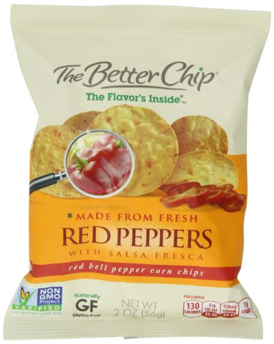 The Better Chip Tortilla Chips, Red Pepper and Salsa Fresca, 2-Ounce (Pack of 18)