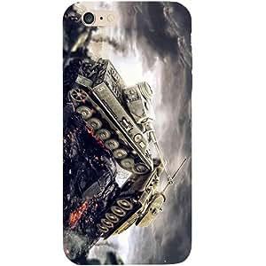 Casotec Tank Wars Design Hard Back Case Cover for Apple iPhone 6 Plus / 6S Plus