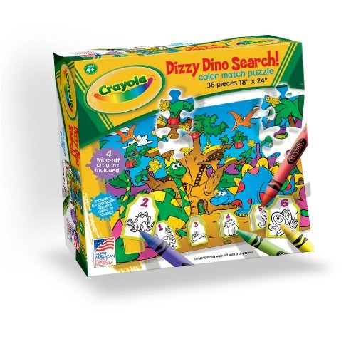 Cheap Great American Crayola Dizzy Dino Search Puzzle (B00062F642)