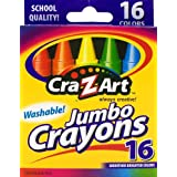 Cra Z Art Washable Jumbo Crayons, Multi Color (16 Counts)