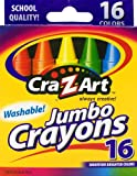 Cra-Z-art  Washable Jumbo Crayons, 16 Count  (10204)