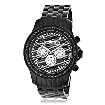 Luxurman Mens Black Diamond Watch 2.25ct