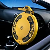 Anti Theft Thatcham 3 Steering Wheel Lock - Small Medium Large - Silver Or Retro Yellow - Disklok Disc Lock Disclock Disclok Disclok Disklock (Small 35cm - 39cm, Yellow)