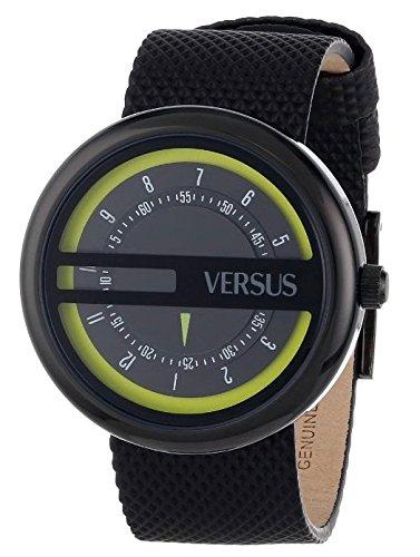 Versus - SGI02 - Osaka - Montre Mixte - Quartz Analogique - Cadran Noir - Bracelet Caoutchouc Noir