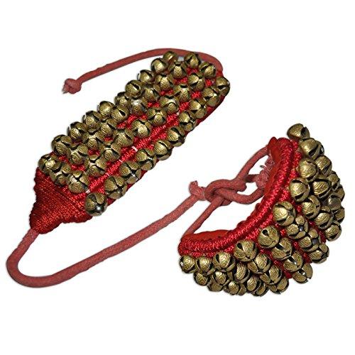 ghungroo-ensemble-quatre-lignes-bells-gendarmerie-sur-la-bonne-qualite-tapis-rouges